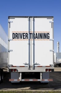 Driver CPC courses in the uk, picture shows a training lorry