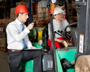 Forklift trucks training, training with one to one tuition