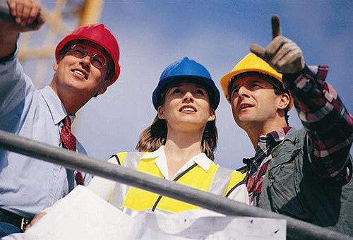 a woman in the construction industry